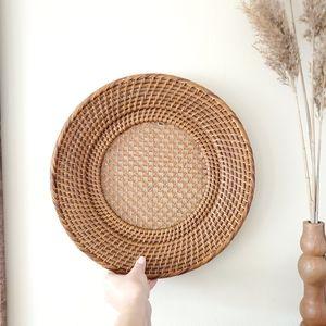 Rattan Plate hand-woven